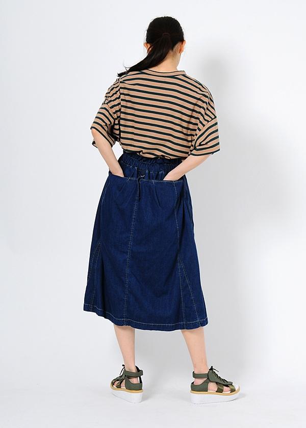 メルシーボークー、 / B:モダールデニム / デニムスカート