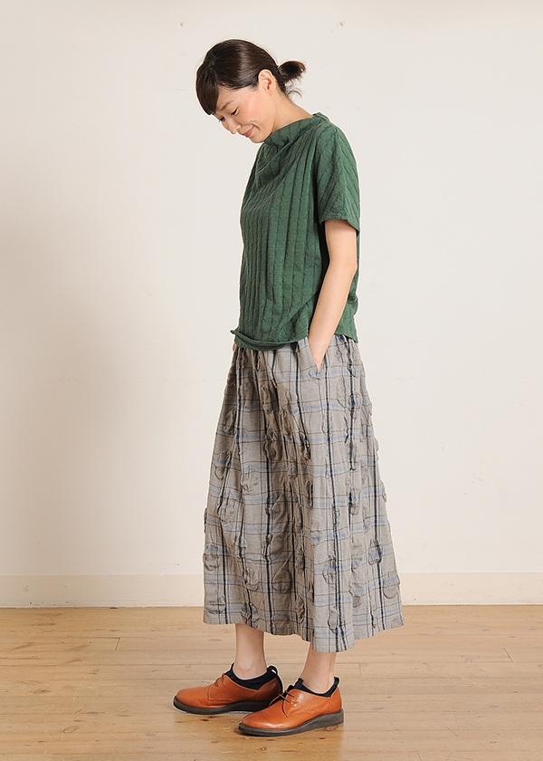 Plantation / チェックドットRipple / スカート