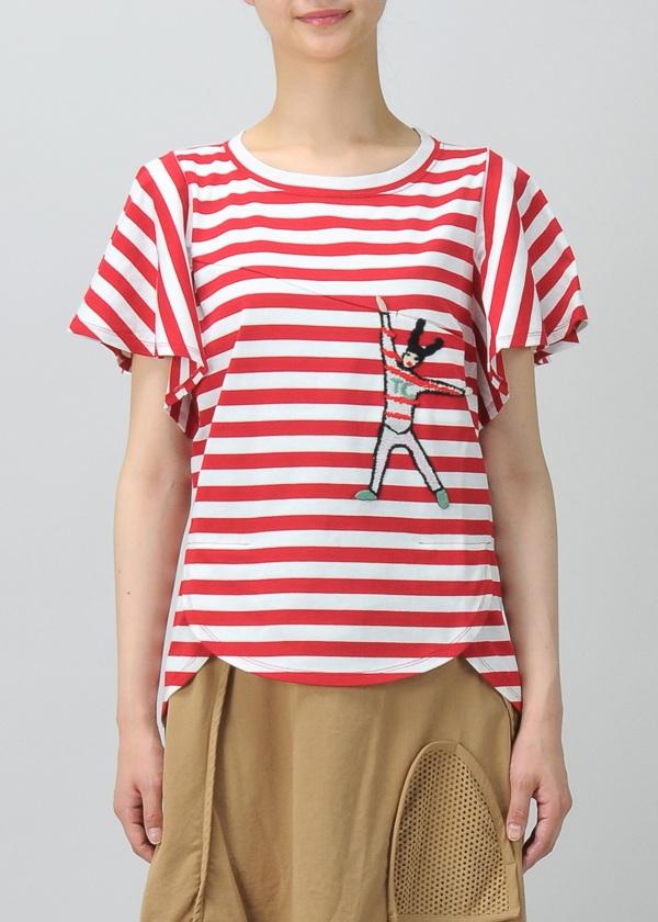 TSUMORI CHISATO / S ボーダードッキングT / Tシャツ
