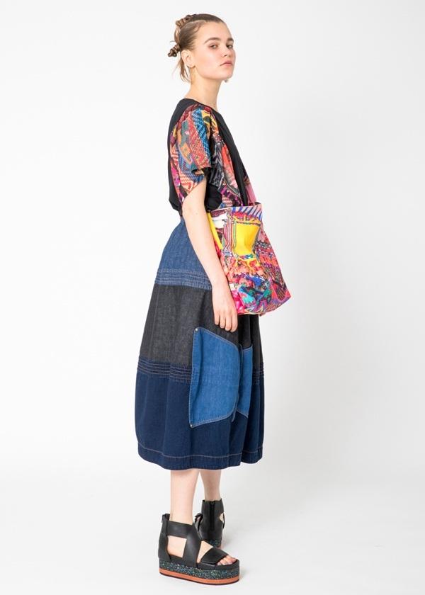 TSUMORI CHISATO / ネップデニム / スカート
