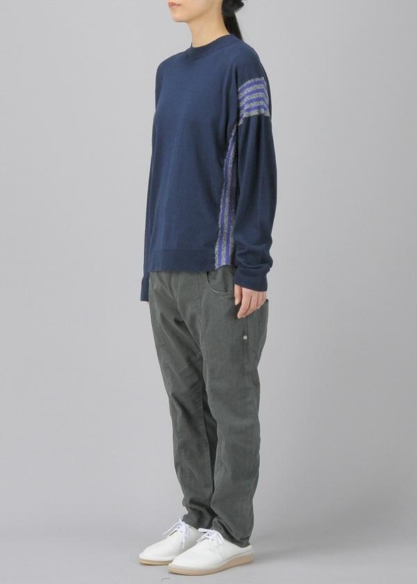 メルシーボークー、 / B:しまリブニット / セーター