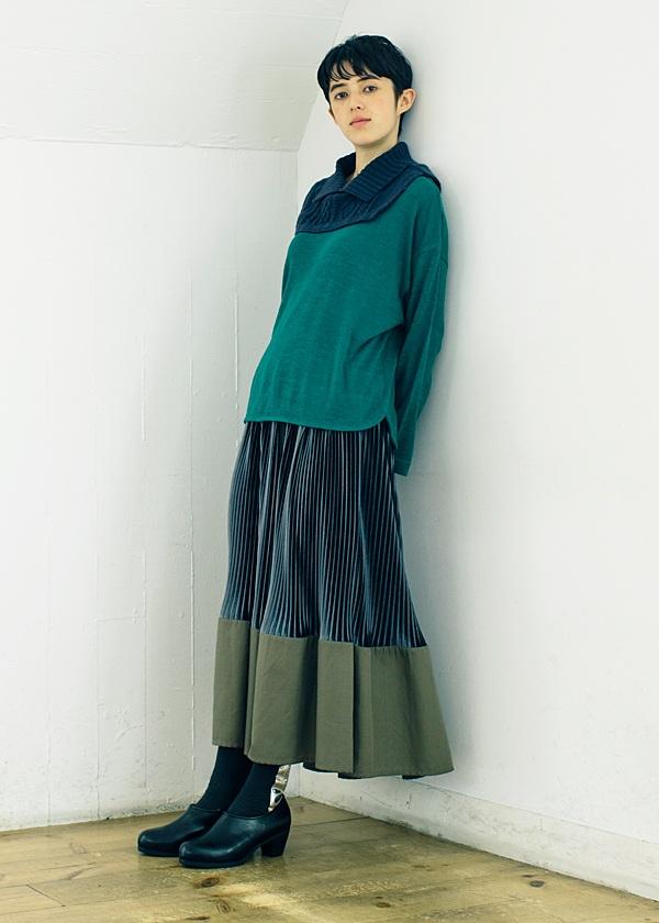 ネ・ネット / S ベロアビエラプリーツ / スカート