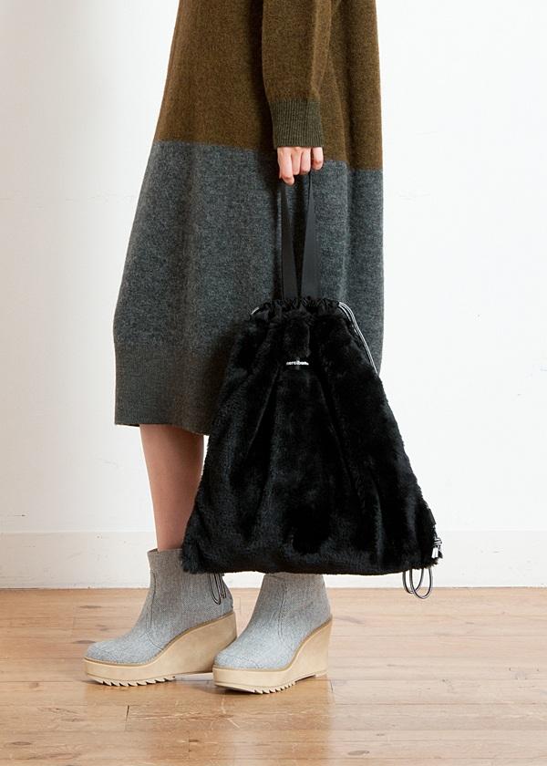 メルシーボークー、 / 大巾着ファー / 2Wayバッグ