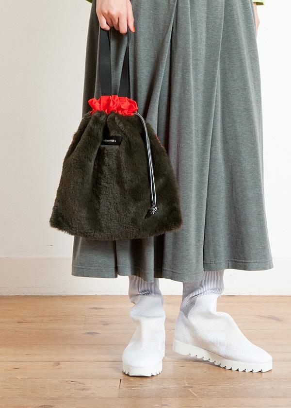 メルシーボークー、 / S 小巾着ファー / トートバッグ
