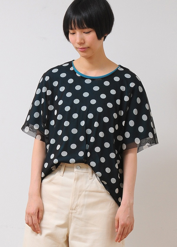 ネ・ネット / pickable dots tulle & T / Tシャツ
