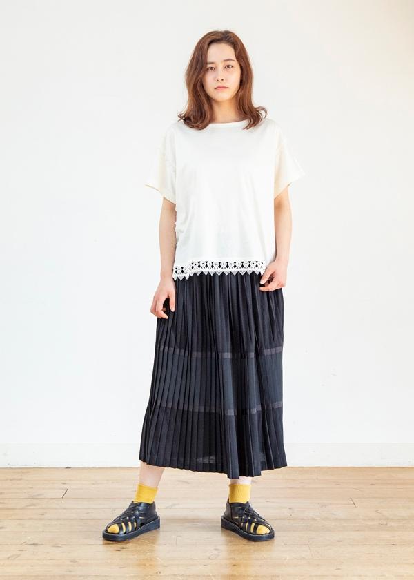 ネ・ネット / パッチプリーツ / スカート