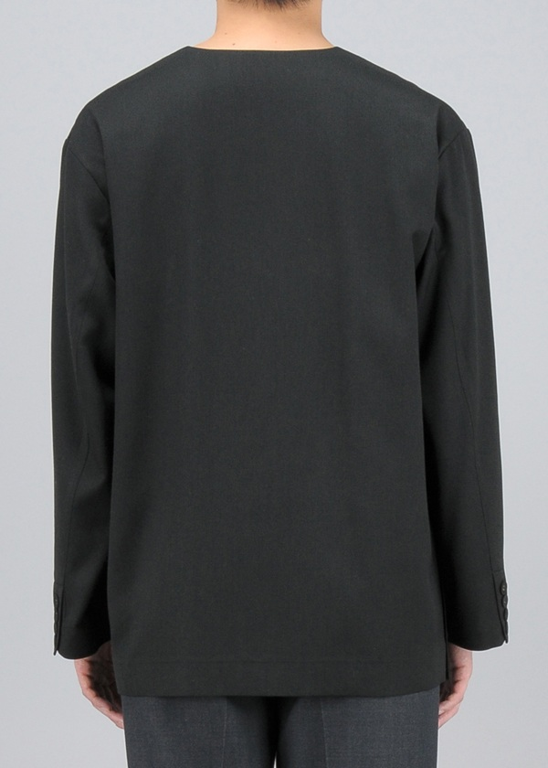 Polyester wool pullover jacket