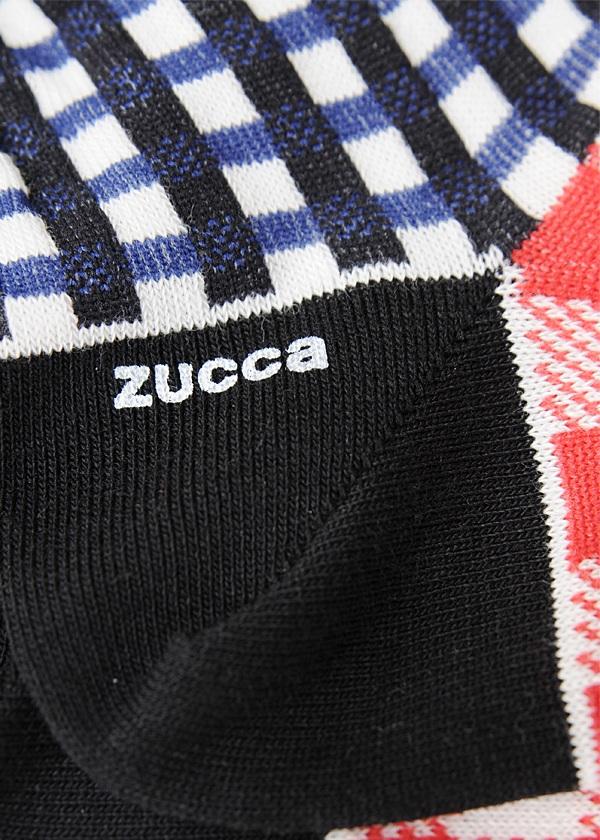 ZUCCa / S メンズ チェックソックス / ソックス