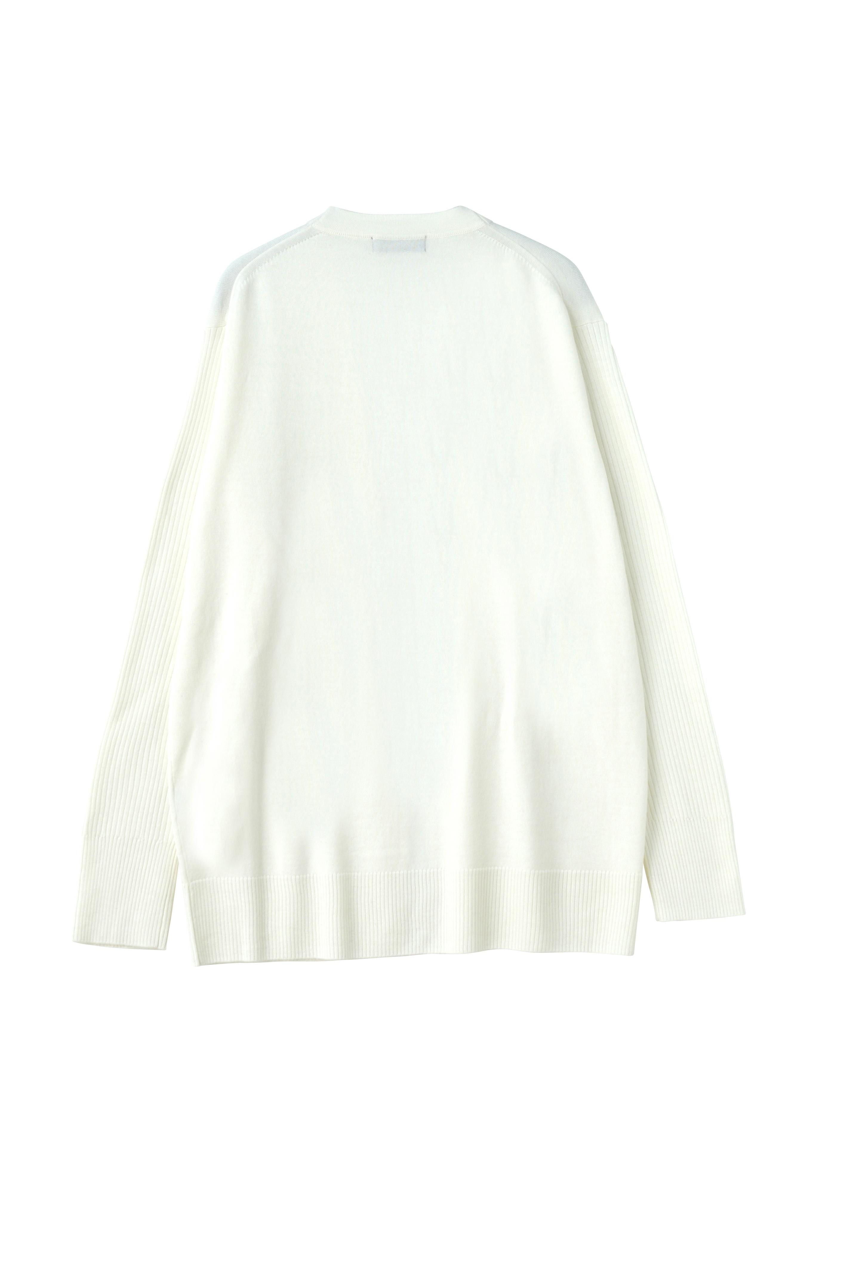 ZUCCa / S メンズ ウールリブセーター / 羽織り