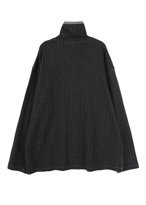 S Herringbone jacquard -  turtle neck