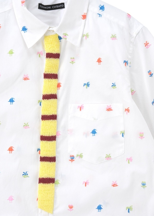 TSUMORI CHISATO / S メンズ ニュージー刺繍シャツ / シャツ