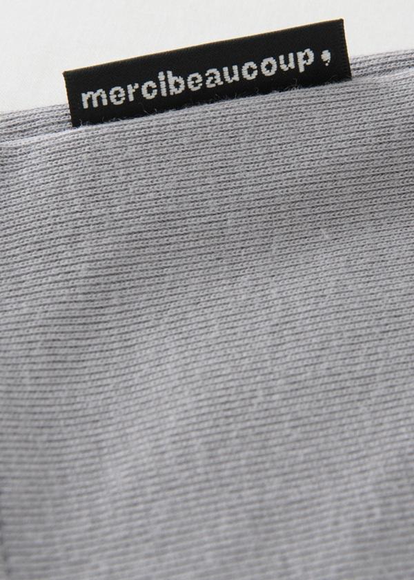 メルシーボークー、 / メンズ B:メルししゅうティー / カットソー