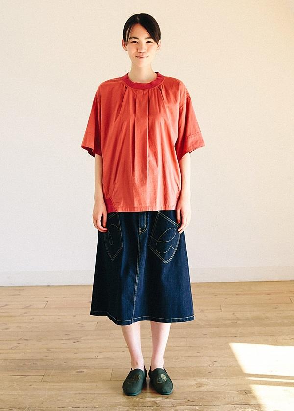 メルシーボークー、 / B:うしろまえデニム / デニムスカート