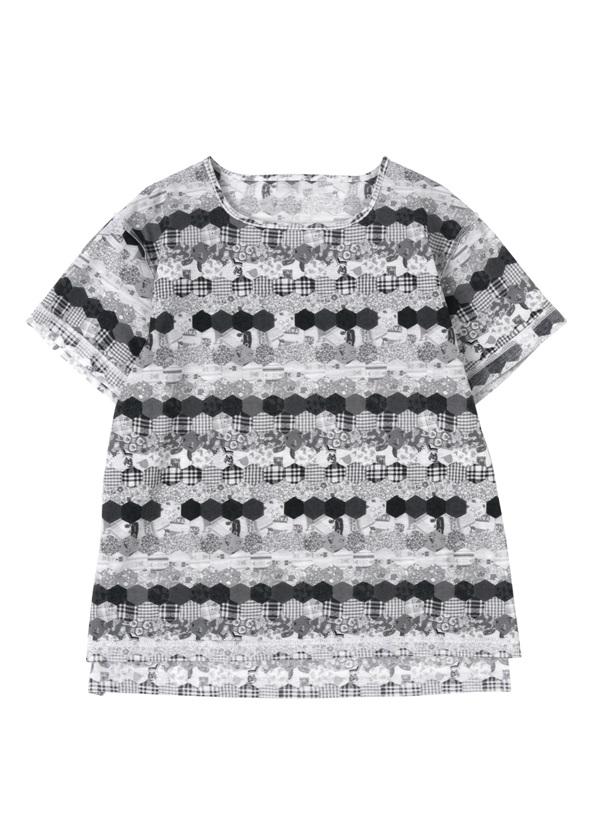 ネ・ネット / S キルトプリント T / Tシャツ