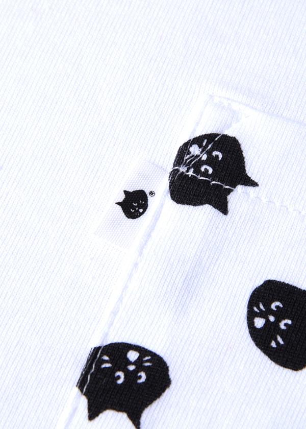 にゃー / S 柄ポケットにゃーT / Tシャツ