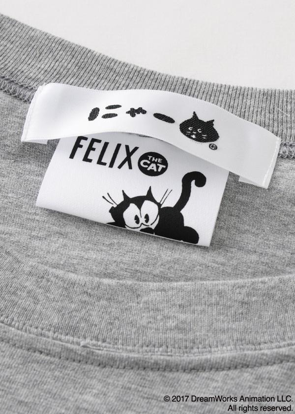 にゃー / S メンズ  にゃー×Felix the Cat はてなT / Tシャツ