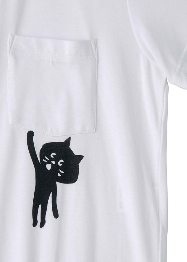 にゃー / S ぶらさがりにゃーポケT / Tシャツ
