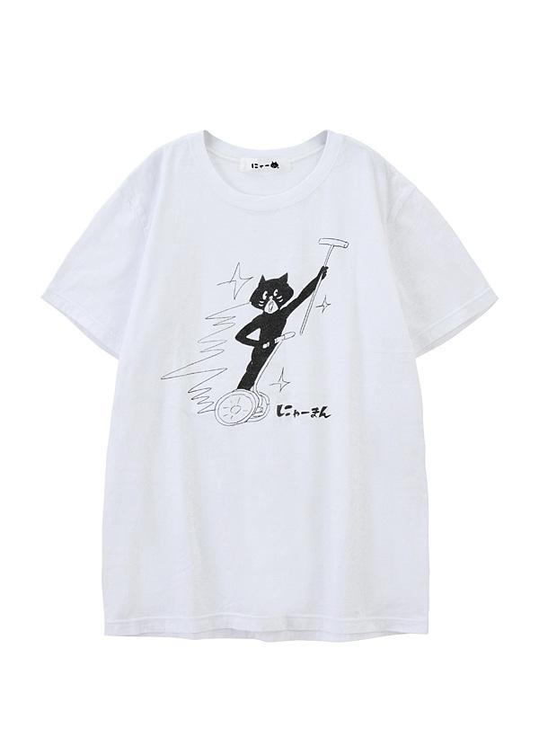 にゃー / S スポーツにゃーまん T / Tシャツ