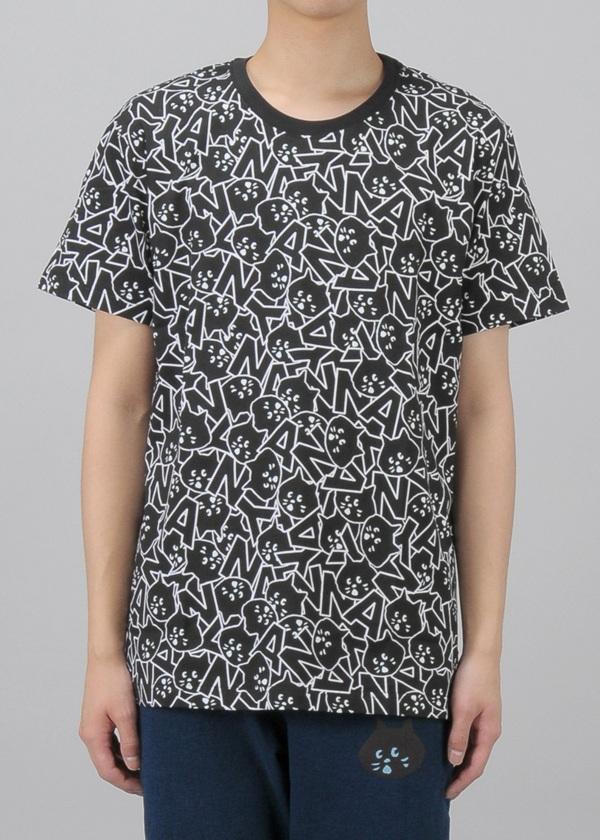 にゃー / 総柄にゃーいっぱいT / Tシャツ
