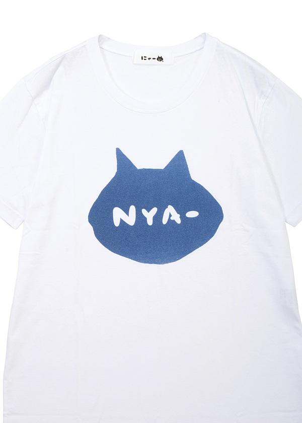 にゃー / S メンズ シルエットNYA - T / Tシャツ
