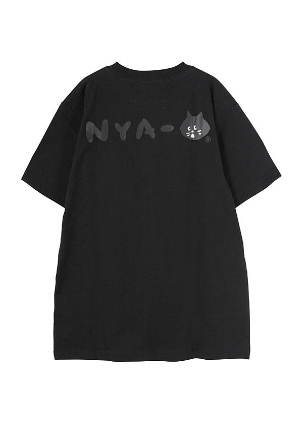にゃー / S にゃーとチャンピオンのビッグロゴT / Tシャツ
