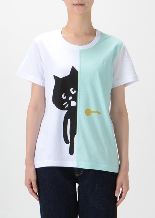 にゃー / S ドアからにゃー T / Tシャツ