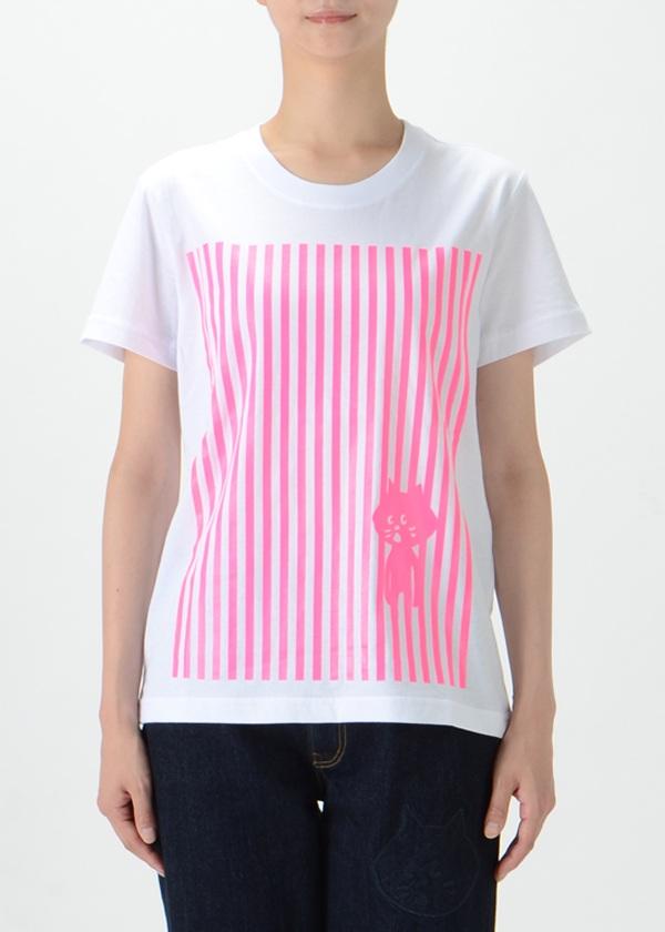 にゃー / ストライプにゃー T / Tシャツ