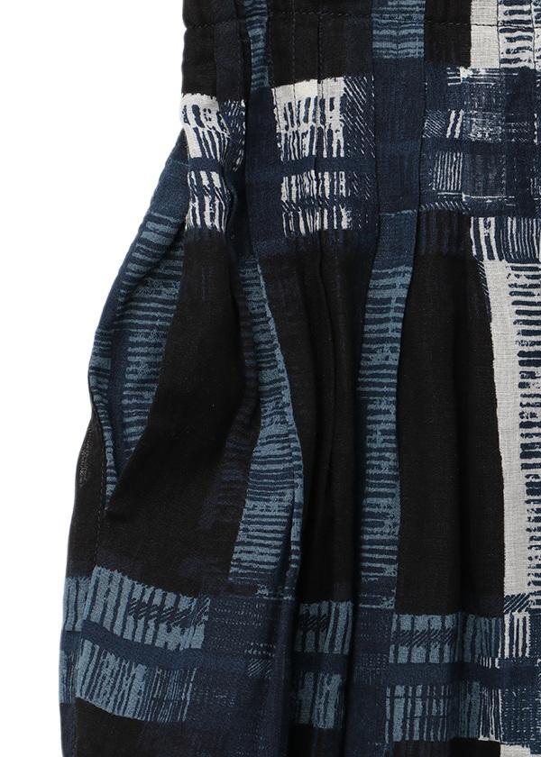Plantation / ワイドチェックプリント / スカート