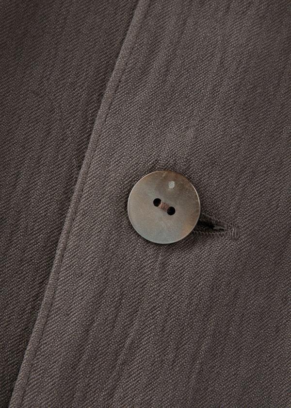 S rayon wool open collar shirts