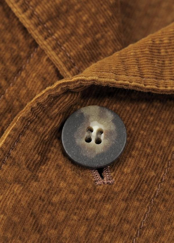 S Fine corduroy 2/3 sleeve coat