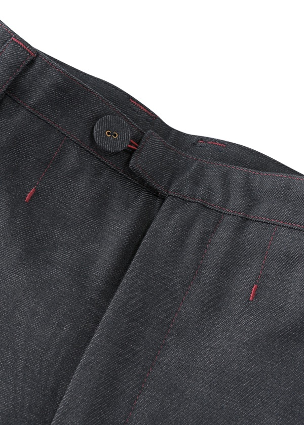Polyester wool tapared pants