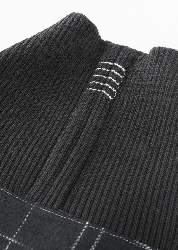 S Kasuri flammel check - pullover jacket