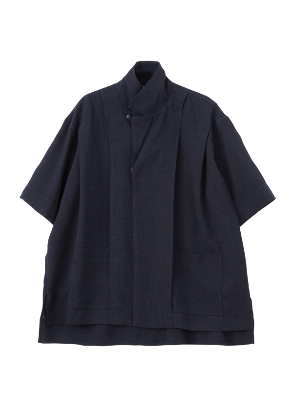 (O) SHOULDER TUCK OPEN COLLAR SHIRTS