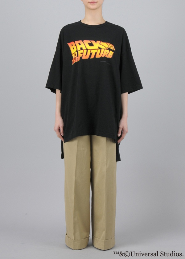 ZUCCa × BACK TO THE FUTURE / S BTTF LOGO T / Tシャツ