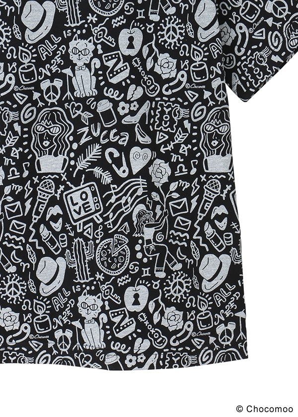 ZUCCa / S Chocomoo×ZUCCa マルチ BIG T / Tシャツ