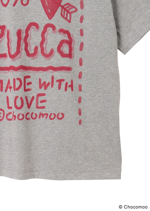 ZUCCa / Chocomoo×ZUCCa BIG T 100% / Tシャツ