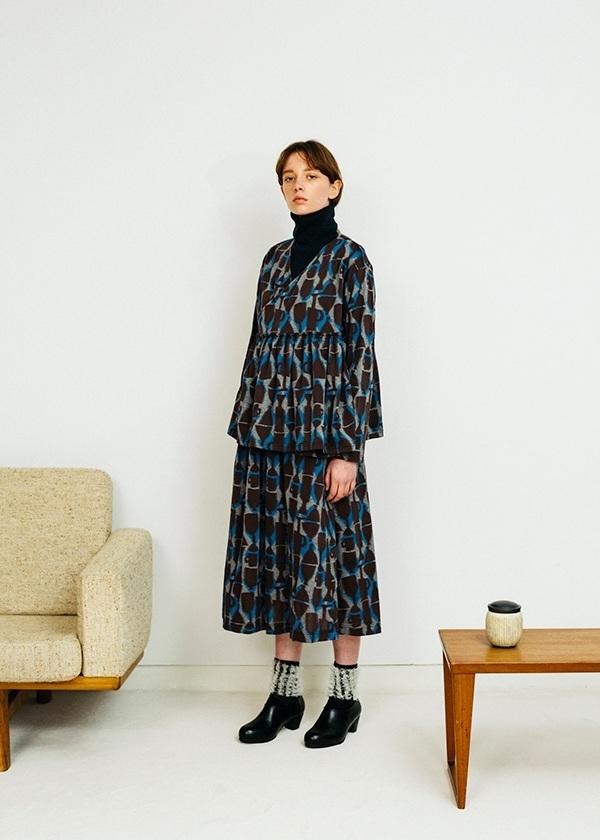 ネ・ネット / うつわカットジャガード / カーディガン