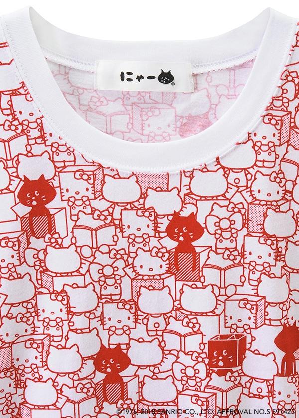 にゃー / S 総柄はこからにゃー×HELLO KITTY T / Tシャツ