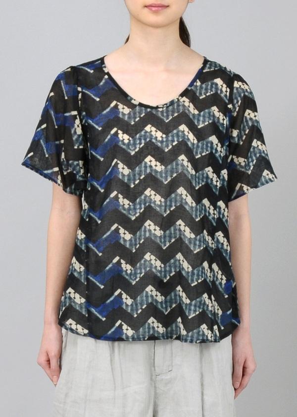 Plantation / S ジグザグプリント / Tシャツ