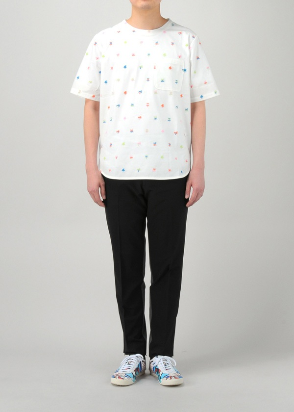 TSUMORI CHISATO / S メンズ ニュージー刺繍T / Tシャツ