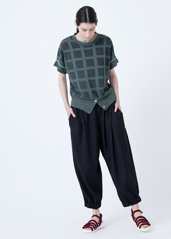 メルシーボークー、/ B:格子戸ニット / ニット