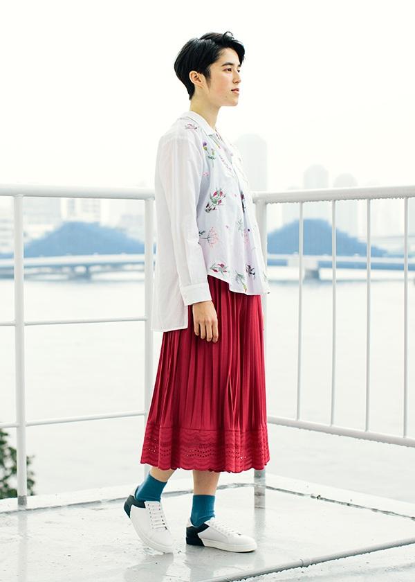 ネ・ネット / レーススカラプリーツ / パンツ
