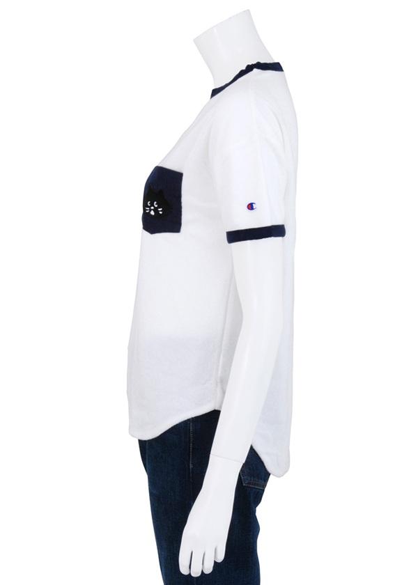 にゃー / S にゃーとチャンピオンのパイルTシャツ / Tシャツ