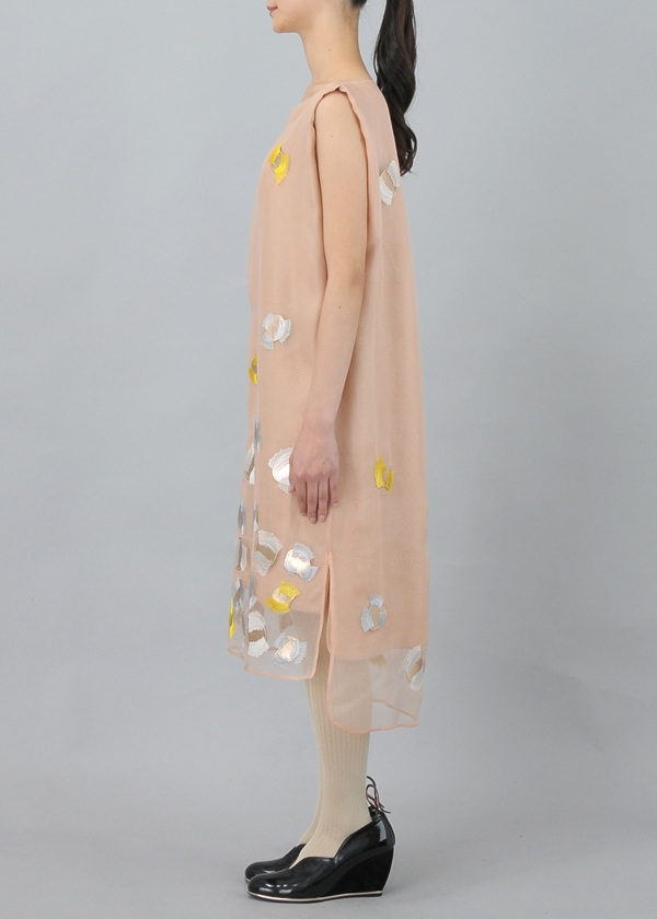 TSUMORI CHISATO / S パレットパッチ刺繍 / ワンピース
