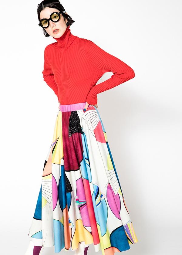TSUMORI CHISATO / サークルプリント2 / スカート