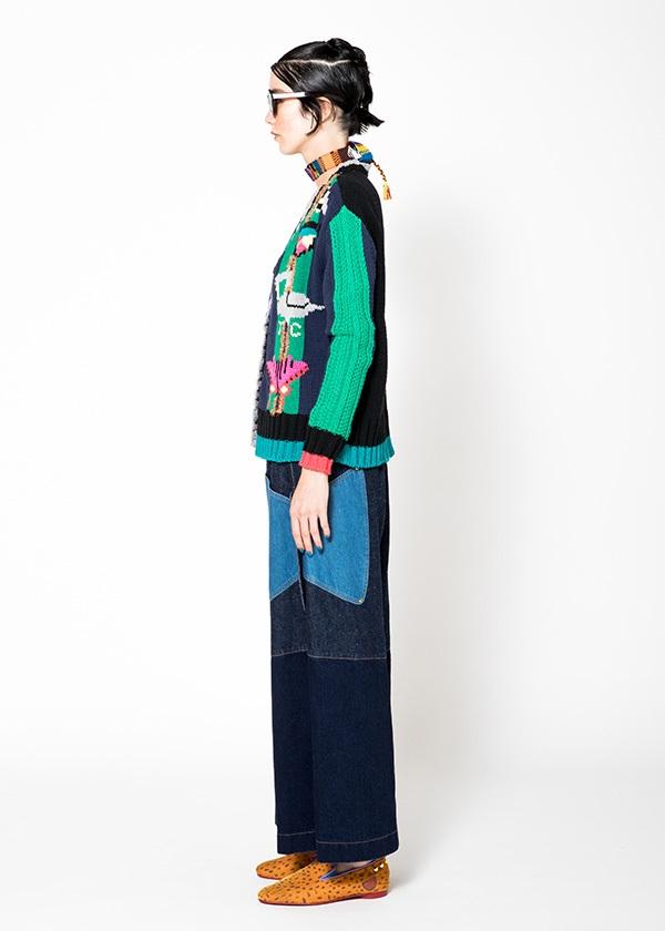 TSUMORI CHISATO / モチーフインターシャ / カーディガン