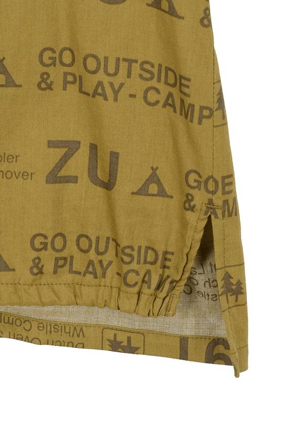 ZUCCa / キャンプロゴプリント / ブラウス