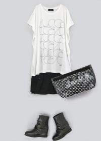 ZUCCa / S ワイヤーロゴTシャツ / Tシャツ