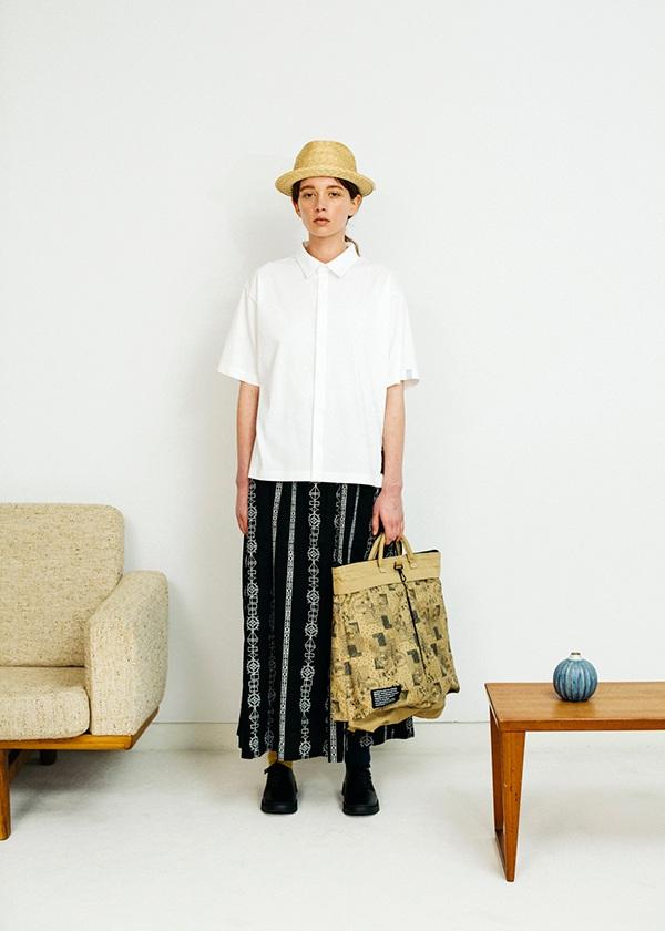 ネ・ネット / クロスステッチストライプ / スカート