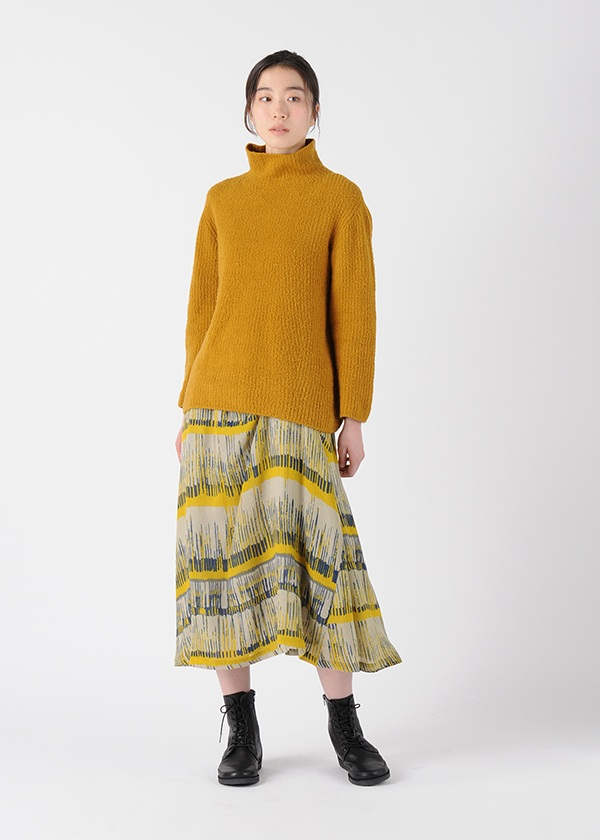 Plantation L-line / S カスリボーダーCrepe / スカート